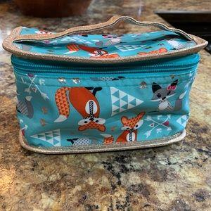 Fox zip-up handle bag